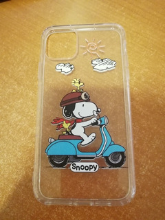 Funda Silicon iPhone 11 Pro Max Snoppy Moto
