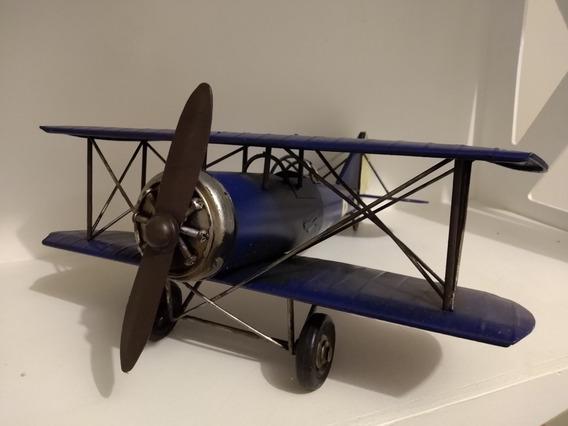Avião Miniatura Da Força Aérea Britânica Azul