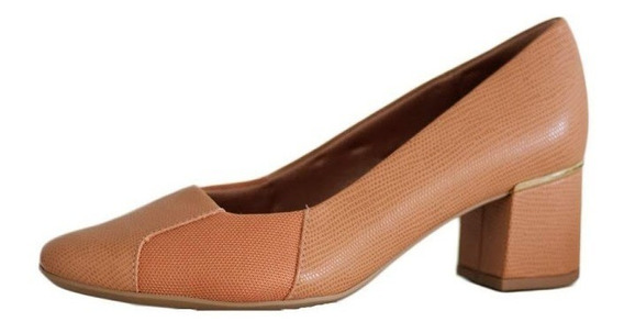 Sapato Salto Grosso Usaflex Peep Toe Confortável9208 Compre!