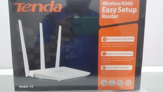 Router Inalambrico Tenda Tres Antenas N300 F3 Wifi 300mbps