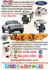 Turbo Nuevo Ford Ranger 2.8 Power Stroke Argentino Guatemala