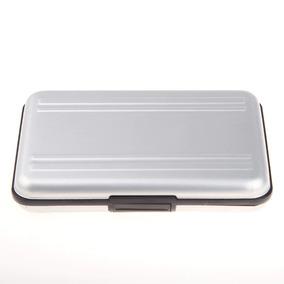 Case Micro E Sd Aluminio Porta Cartão Memoria Estojo Prata