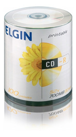 Cd-r 700mb Virgem Elgin 100un