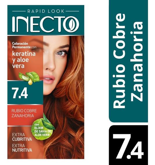 Kit De Tintura Inecto Rubio Cobre Zanahoria Nº 7,4