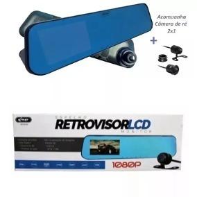 Espelho Retrovisor Tela Lcd 1080p