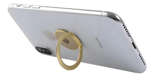 Imagen 1 de 5 de Ring Holder Mobo Anillo Soporte Celular Forma Circulo Dorado