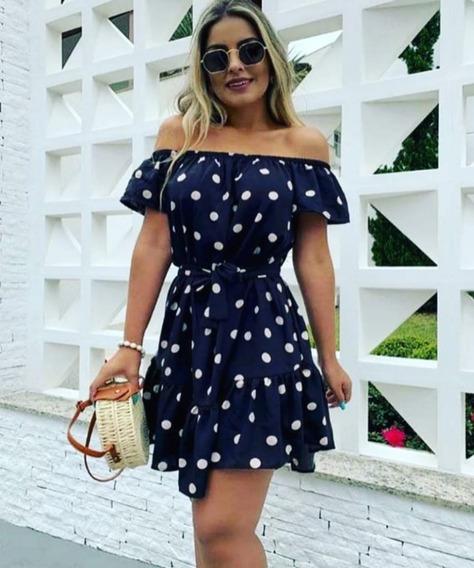Vestido Feminino Ombro A Ombro Delicado Ciganinha Moda Verão