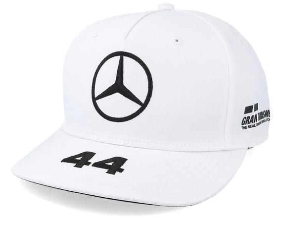 Gorra F1 Mercedes Benz Lewis Hamilton Plana Blanca 2019