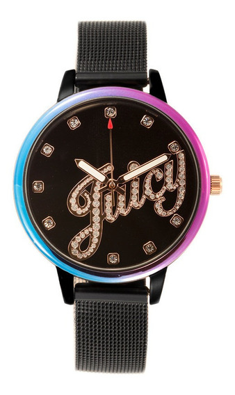 Reloj Juicy Couture Acero Correa Negra