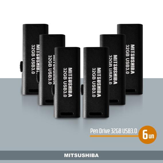 Kit Pen Drive 32gb(usb 3.0) 6pcs Mitsushiba