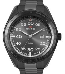 Relógio Technos Masculino Preto Original Garantia 2115mrm/4c