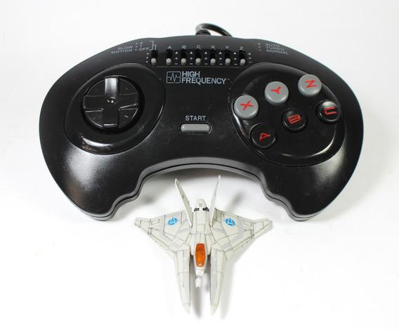 Controle Sega Genesis Mega Drive Msx Turbo 6 Botoes Joystick