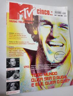 Revista Mtv Cinco - Ano 1/julho 2001 - Guga Chorão, Lenny...