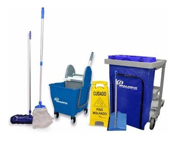 Kit De Limpeza Promocional Nº3 Azul - Ny03az Bralimpia