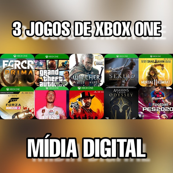 Pacote Com 3 Jogos - Xbox One - Digital + Brinde