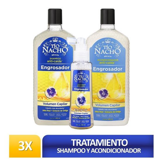 Pack Tío Nacho Engrosador Shamp + Acondic+ Tratamiento