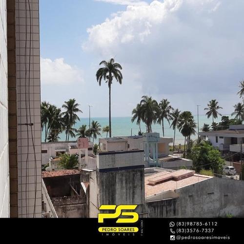 Apartamento Com 3 Dormitórios À Venda, 92 M² Por R$ 439.000,00 - Cabo Branco - João Pessoa/pb - Ap3717