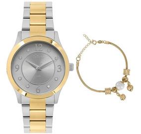 Kit Relógio Condor Feminino Co2036kve/k5c C/ Garantia E Nf