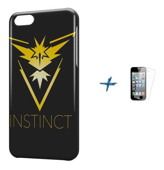 Kit Capa iPhone 5c Pokemon Instinct Team +pel.vidro Bd1
