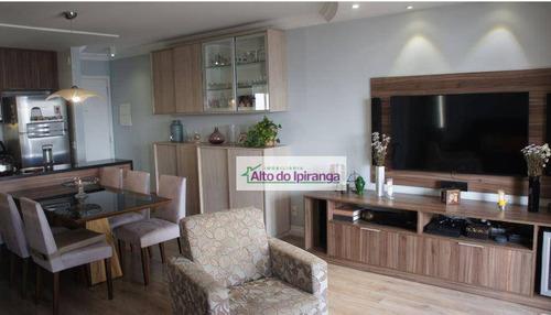Apartamento Com 3 Dormitórios À Venda, 70 M² Por R$ 615.000,00 - Vila Gumercindo - São Paulo/sp - Ap5082