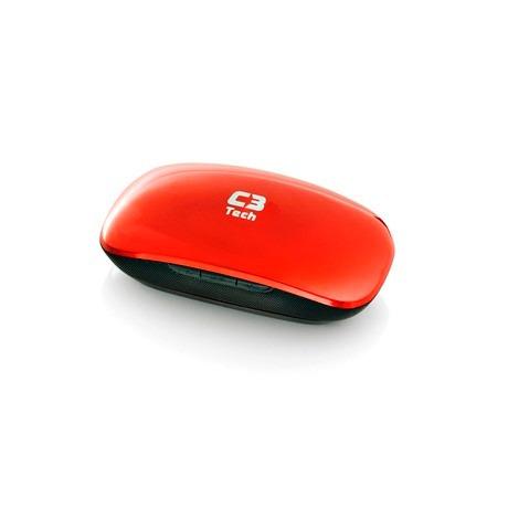 Caixa De Som 1w Rms C3tech Bit Box St-120 Rd - Vermelha
