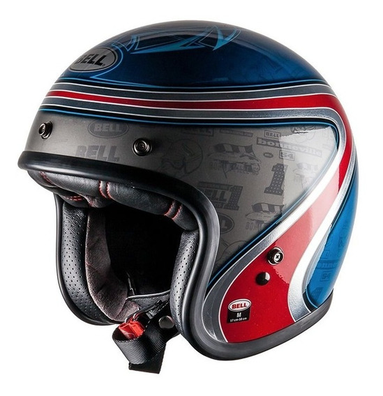 Capacete Bell Custom 500 Airtrix Heritage Azul 12x S/juros!
