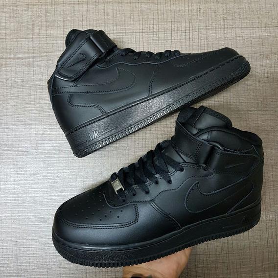 tenis nike air force one bota negro