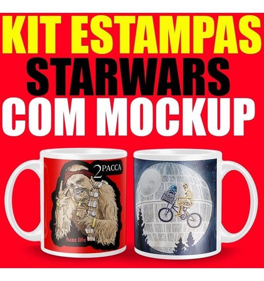 Kit Arte Caneca Star Wars Estampas Para Sublimação