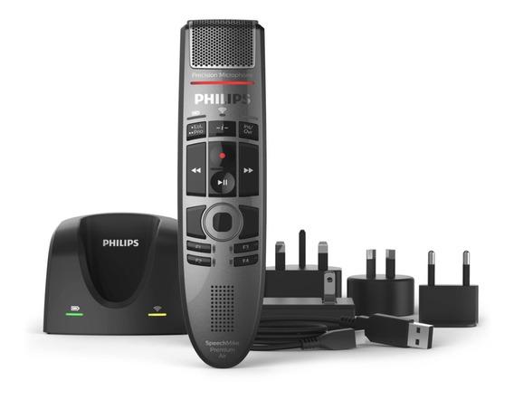 Speechmike Air Smp4000 Philips Microfone Sem Fio + Airbridge
