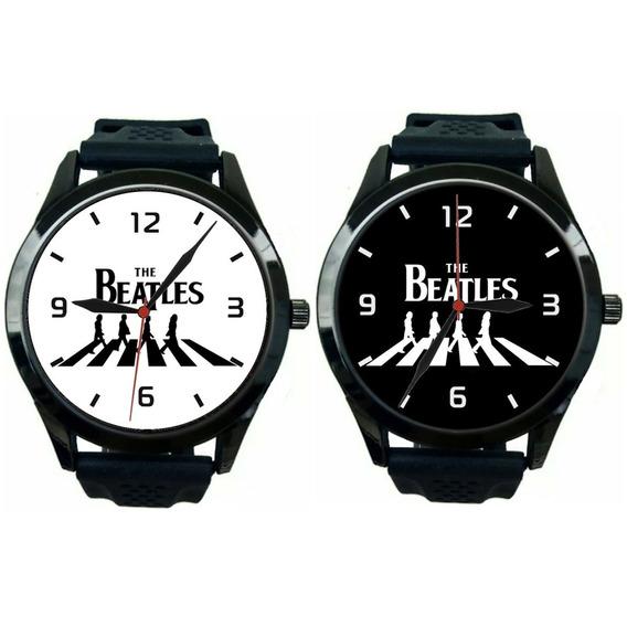 Kit 2 Relógios Pulso Esportivo The Beatles Barato Masculino