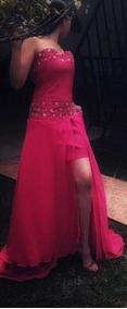Vestido De Gala,xv Años,reina,graduacion,rosa Mexicano