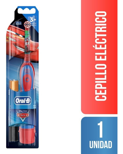 Imagen 1 de 9 de Cepillo De Dientes Electrico A Pilas Oral-b Disney Cars