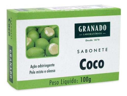 Imagem 1 de 1 de Sabonete Granado Tratamento Coco Barra, 100g