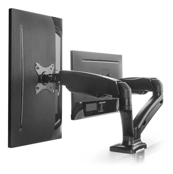 Suporte Articulado Para 2 Monitores De Mesa 15 A 27 Mt-duo