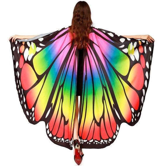 Pareo Bufanda En Forma De Alas De Mariposa Para Danza M6222
