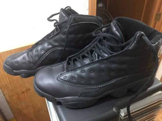 Jordan Retro 13 Black Black Talla 7.5 Mex Como Nuevos