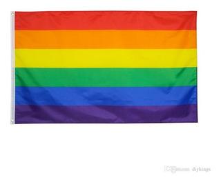 Bandera Gay Pride Lgbt Homo 1.5m X 90cm Resistente Lavable