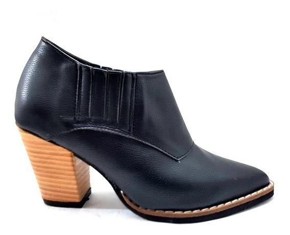 Sam123 Botas Talles Chicos Mujer Charrito Negro