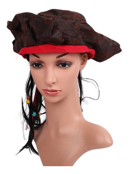 Peruca Pirata Selvagem Peruca Masquerade Palco Desempenho Ad