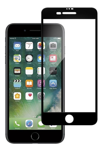 Imagen 1 de 4 de Vidrio Templado iPhone 7 Y 7 Plus Full Cover - Otec