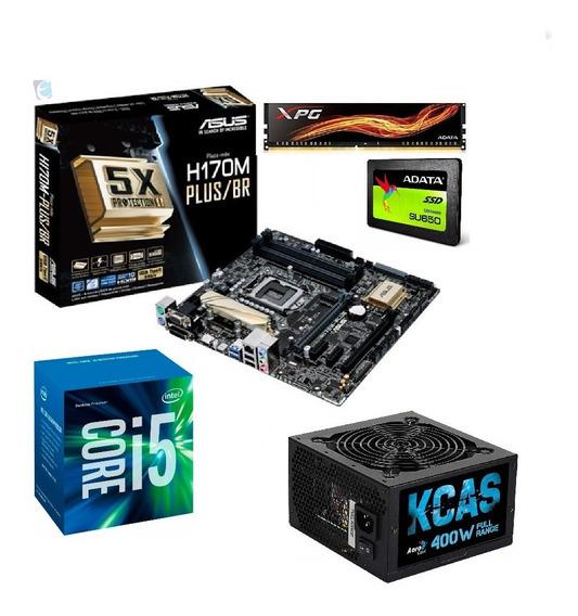Kit Intel Core I5 7400 H170m Plus 8gb Xpg Ad Ssd120 Kc400 I
