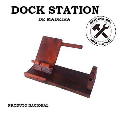 Dock Station De Madeira - Artesanal