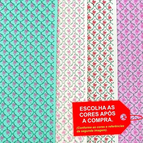 Folha De Eva Estampado Rosas 40x60cm - 5 Unidades