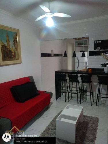 Imagem 1 de 13 de Apartamento Com 1 Dormitório À Venda, 50 M² Por R$ 175.000,00 - Aviação - Praia Grande/sp - Ap2266
