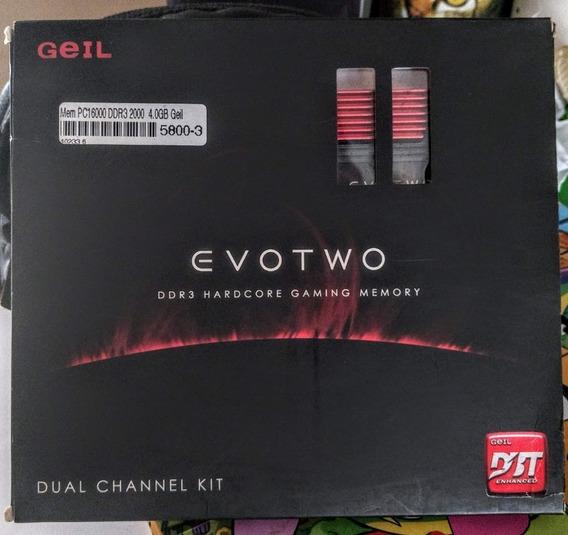 Kit Memória Gamer Geil 2x2gb 2000mhz Top Pra Jogos E Over