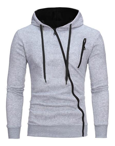 Blusa De Moletom Slim - Blusa De Frio Masculina Angle B28