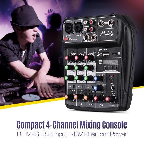 Muslady Ai-4 Console Mixer Consola De Mistura De Áudio