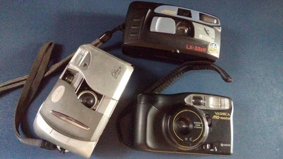 Lot Com 3 Câmera Antiga Fotográfica Não Funciona No Estado