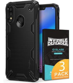 Funda Huawei P20 Lite Ringke Onyx X + Vidrio Templado X3