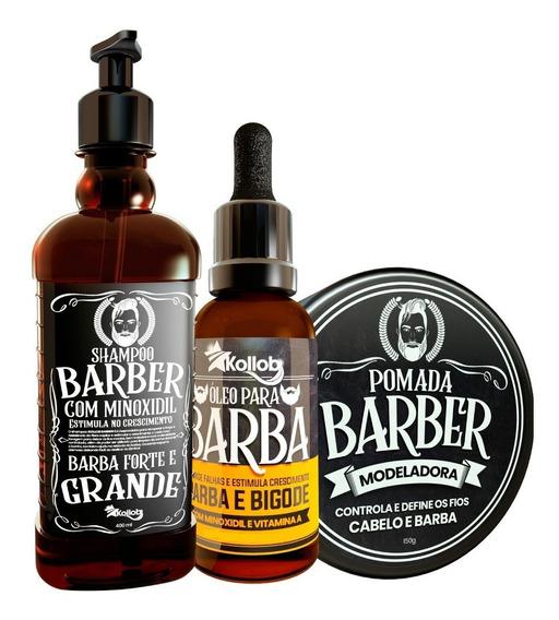 Produto Para Crescer Barba Bigode Pelo Barber Homem Kollob